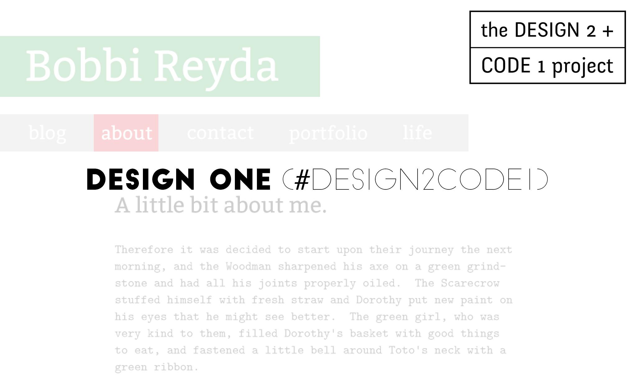 Design One (#design2code1)